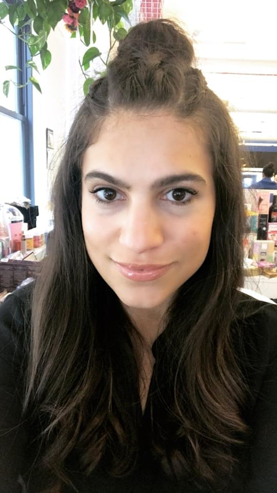 """<p><strong>Who:</strong> Lauren Levinson, senior editor, Beauty</p> <p><strong>Complexion:</strong> Medium</p> <p><strong>Review:</strong> """"I can't stop applying this since it just feels fantastic! The wand is soft, the formula hydrating, and it smells incredible. Even after the color fades, the sweet scent lingers. On me, the shade is a true rose that's similar to my actual lip color but a bit pinker (and a bit better!). I picture myself wearing this with soft, romantic makeup (brown, smudged eyeliner and peach blush) for date nights with my husband. The gloss is also a nice break from the matte trend that's been dominating social media for the past two years.""""</p>"""