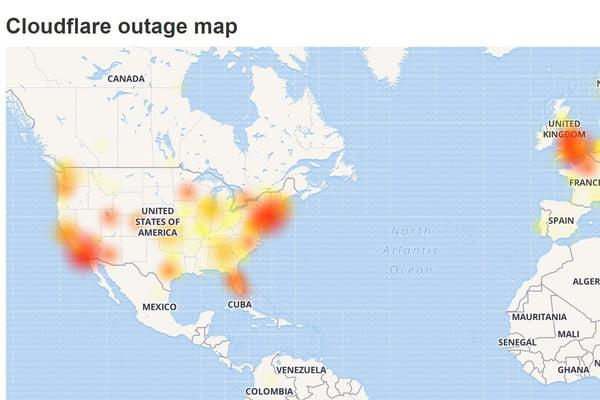 cloudflare att outages affect discord websites cloudflaredown