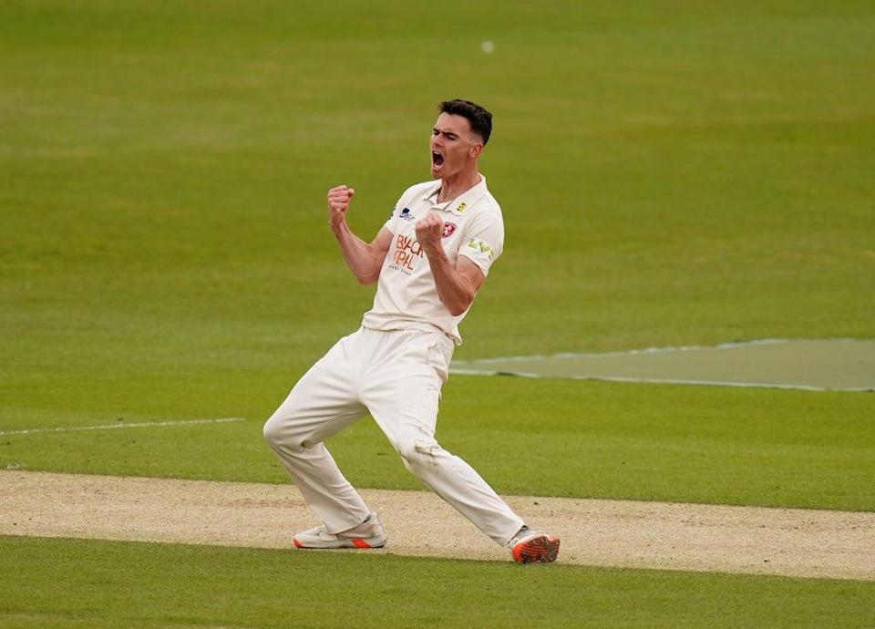 Nathan Gilchrist took four wickets for 30 runs to help Kent to victory (Adam Davy/PA) (PA Wire)