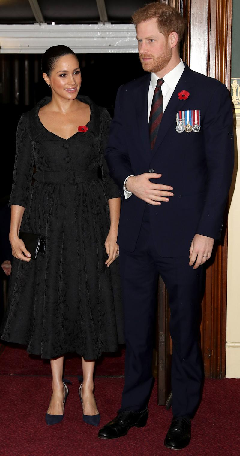Meghan Markle and Prince Harry in London on November 9, 2019 before their trip