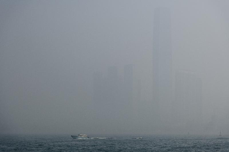 The government said pollution in Hong Kong was higher than normal and that the risk to health was 'very high' (AFP Photo/Anthony WALLACE)