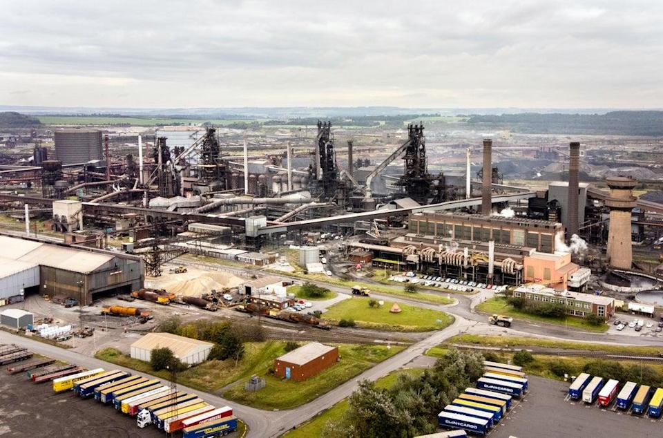 A general view taken by drone of the British Steel Ltd steelworks in Scunthorpe, North Lincolnshire (Danny Lawson/PA) (PA Wire)