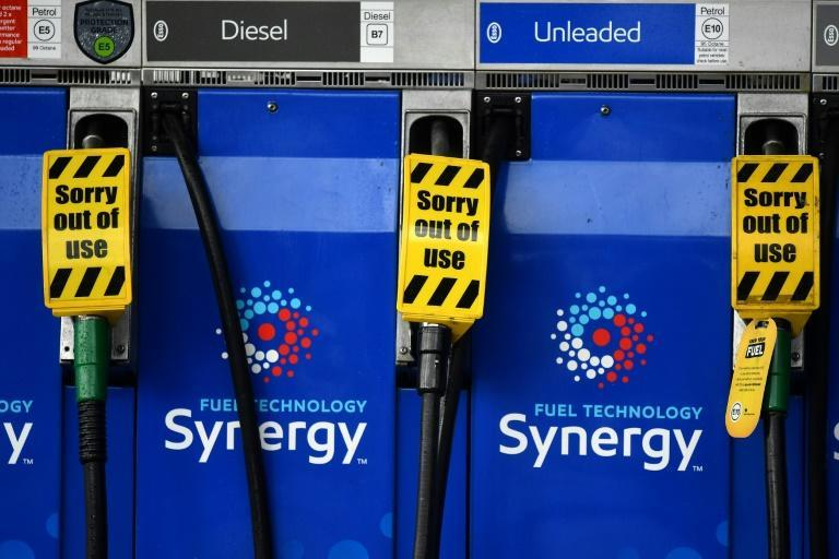 The government has been urged to give key workers such as medical staff priority access to fuel (AFP/Ben STANSALL)