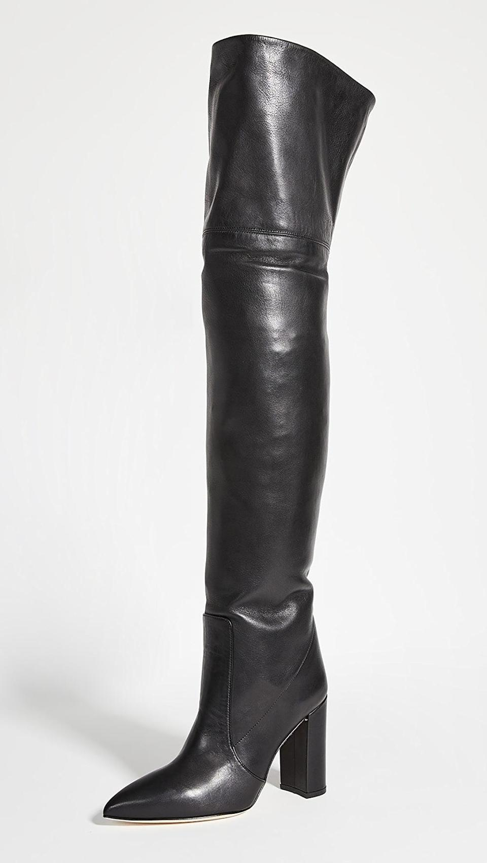<p><span>Paris Texas Calf Leather Over The Knee Boots</span> ($965)</p>