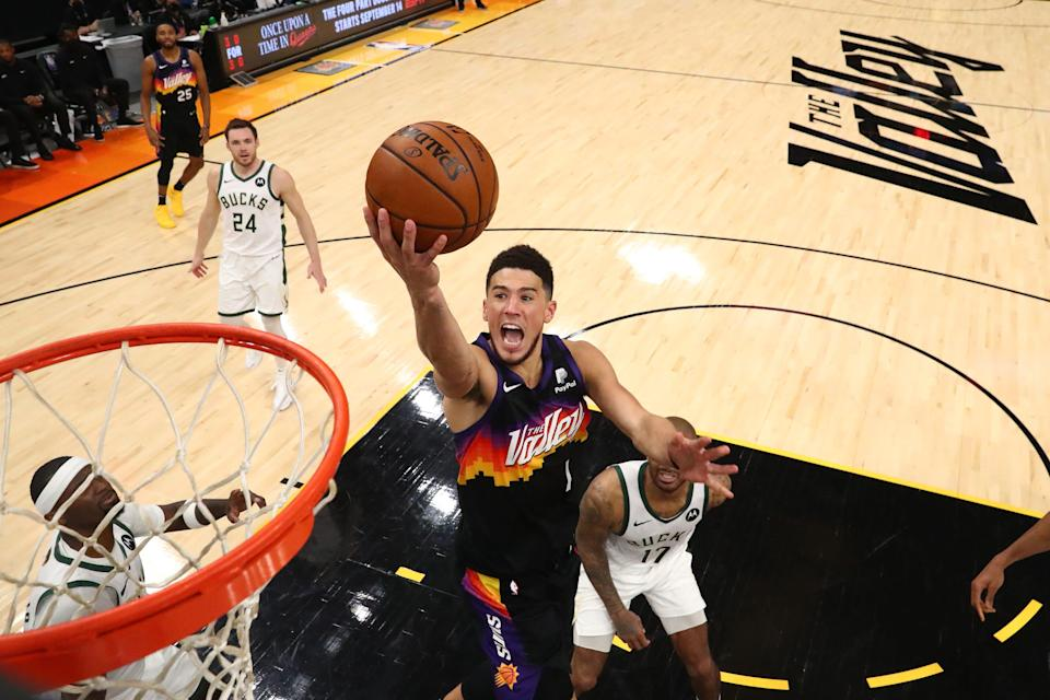 Devin Booker is averaging 30 points per game in the NBA Finals.