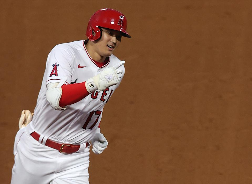 Shohei Ohtani will be busy during MLB's All-Star festivities. (Ronald Martinez/Getty Images)