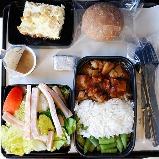 Some people are tempted to order specialty meals just to avoid the normal plane food served. Photo: Getty