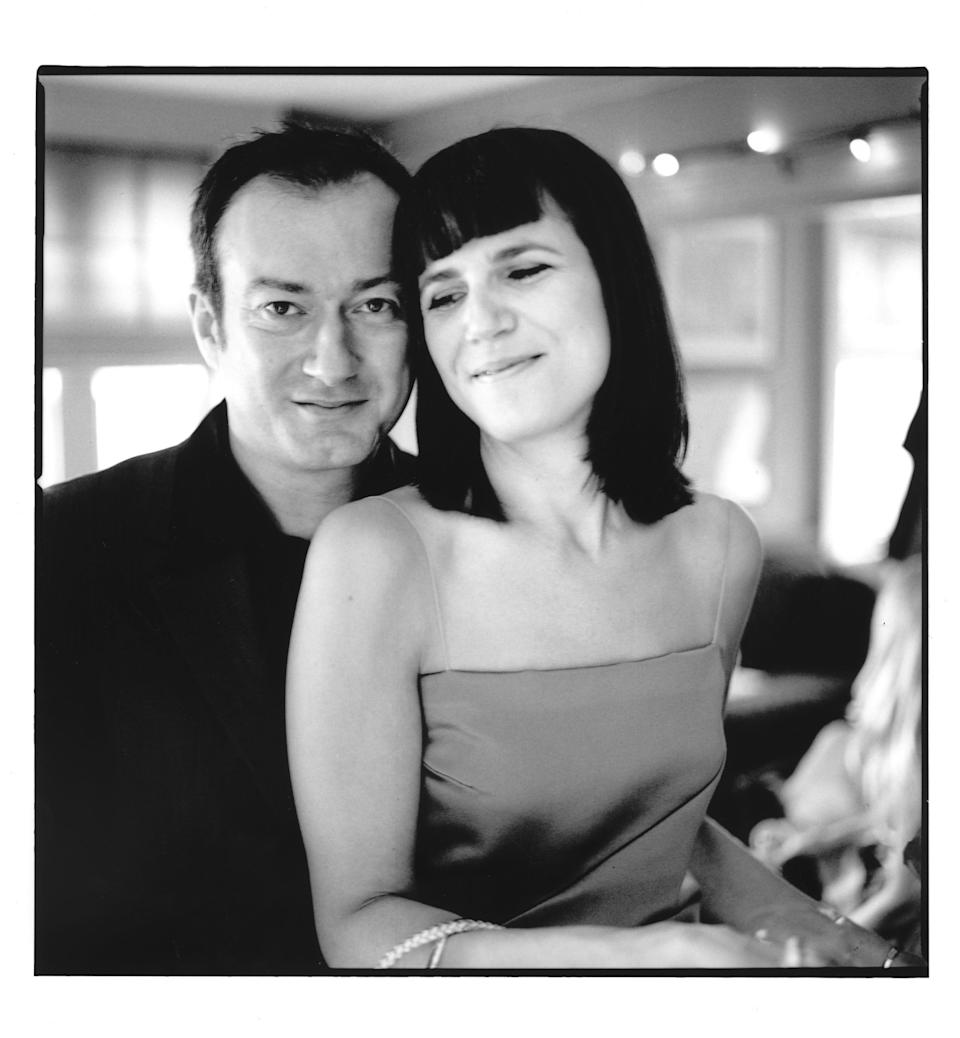 <p>Catherine Mayer and Andy Gill on their wedding day</p> (Anton Corbijn)