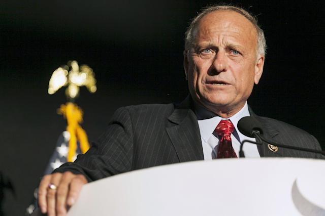 Rep. Steve King (R-Iowa)speaks at the Iowa Faith and Freedom Coalition Forum in Des Moines, Iowa, Sept. 19, 2015.
