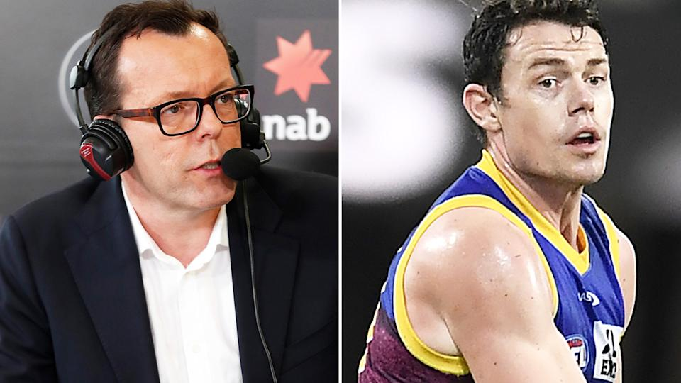 Veteran AFL reporter Damian Barrett has been among several critics of Brisbane Lions star Lachie Neale, in the wake of a reported trade request from the 2020 Brownlow Medallist. Pictures: Getty Images