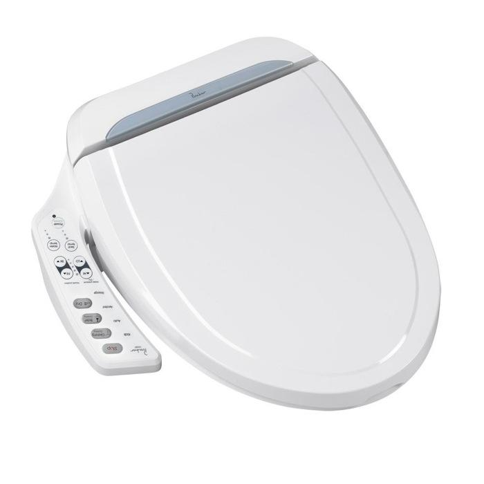 Upgrade Your Seat  The Porcher Electronic Bidet Seat features both oscillating and gentle wash functions. It includes a warm air dryer with two speeds, automatic deodorizer and heated seat with three temperature settings. A built-in seat sensor activates functions when the toilet is in use; an economy mode reduces energy consumption when not. Amazon, $480 (Photo: Porcher)