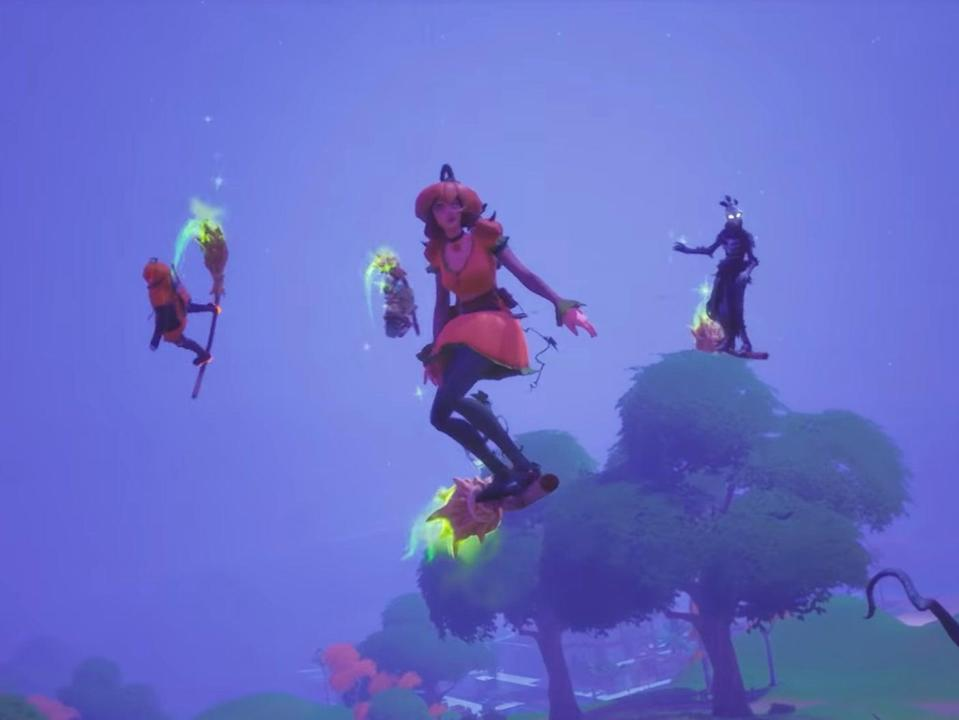 The Witches' broom in Fortnitemares 2020: Midas' Revenge (Epic Games)