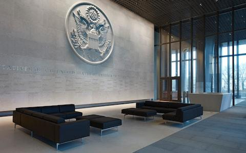 The main lobby with a huge US Government crest - Credit: Richard Bryant/arcaidimages.com