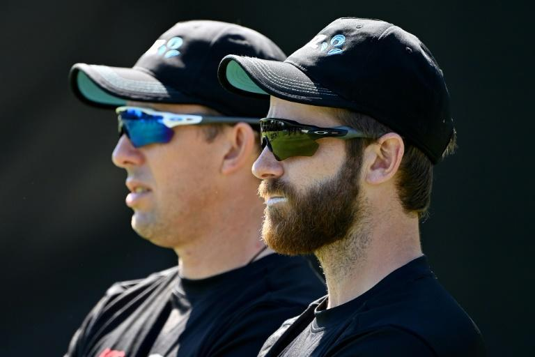 Injured - New Zealand captain Kane Williamson (R) will miss the second Test against England