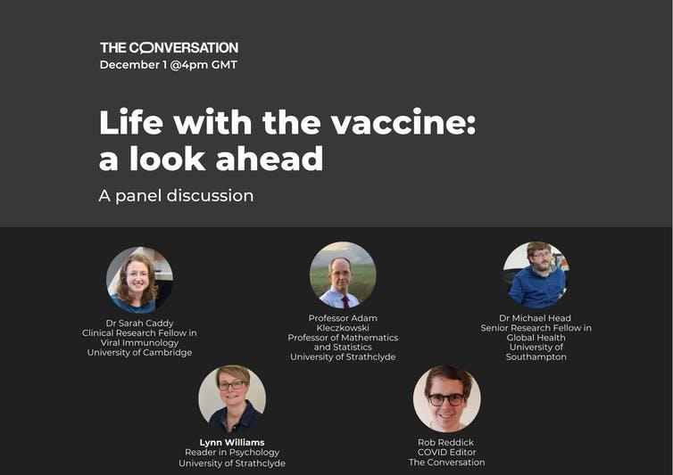 Poster for life with the vaccine event