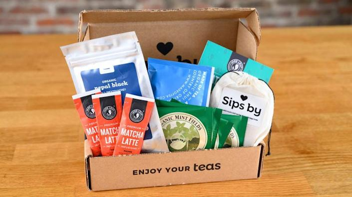 Mom can customize her own box of tea with Sips By.