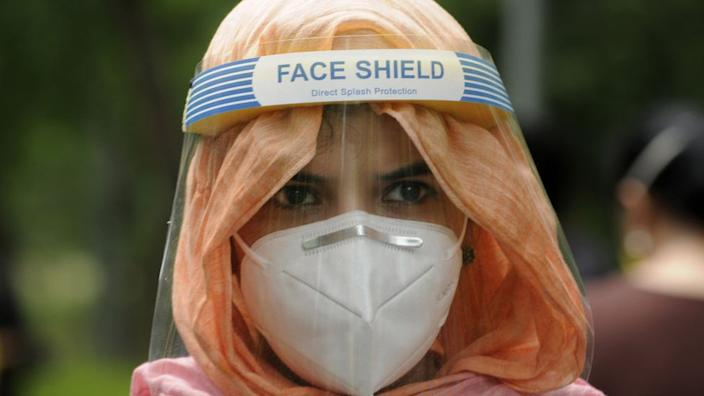 Students have been appearing for other entrance exams with masks and shields