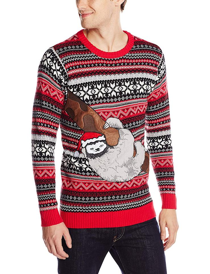 "<p>Ugly sweater parties are a mainstay during the holiday season. We spend the majority of the year working and taking life a little too seriously so this rare opportunity to laugh at yourself is more than welcome. <br /><strong><a rel=""nofollow"" href=""https://www.amazon.ca/Blizzard-Bay-Christmas-Sweater-Medium/dp/B013AW8VHI/ref=asc_df_B013AW8VHI/?tag=googleshopc0c-20&linkCode=df0&hvadid=293037240367&hvpos=2o37&hvnetw=g&hvrand=9655320429557767348&hvpone=&hvptwo=&hvqmt=&hvdev=c&hvdvcmdl=&hvlocint=&hvlocphy=9061009&hvtargid=pla-385234260135&psc=1"">OUR PICK: Amazon, $35.99</a></strong> </p>"