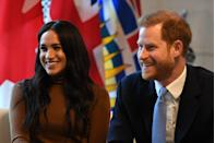 <p>Just a few days before Harry and Meghan announced their plans to step back from royal life, they were all smiles visiting Canada House in London.</p>