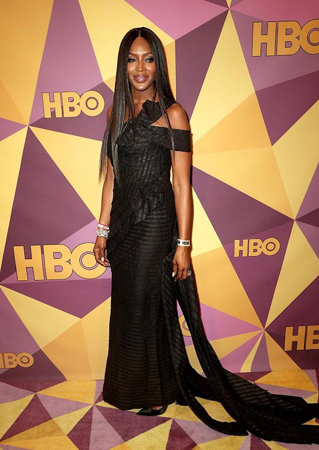 <p>Naomi Campbell at the HBO party. (Photo: Frederick M. Brown/Getty Images) </p>