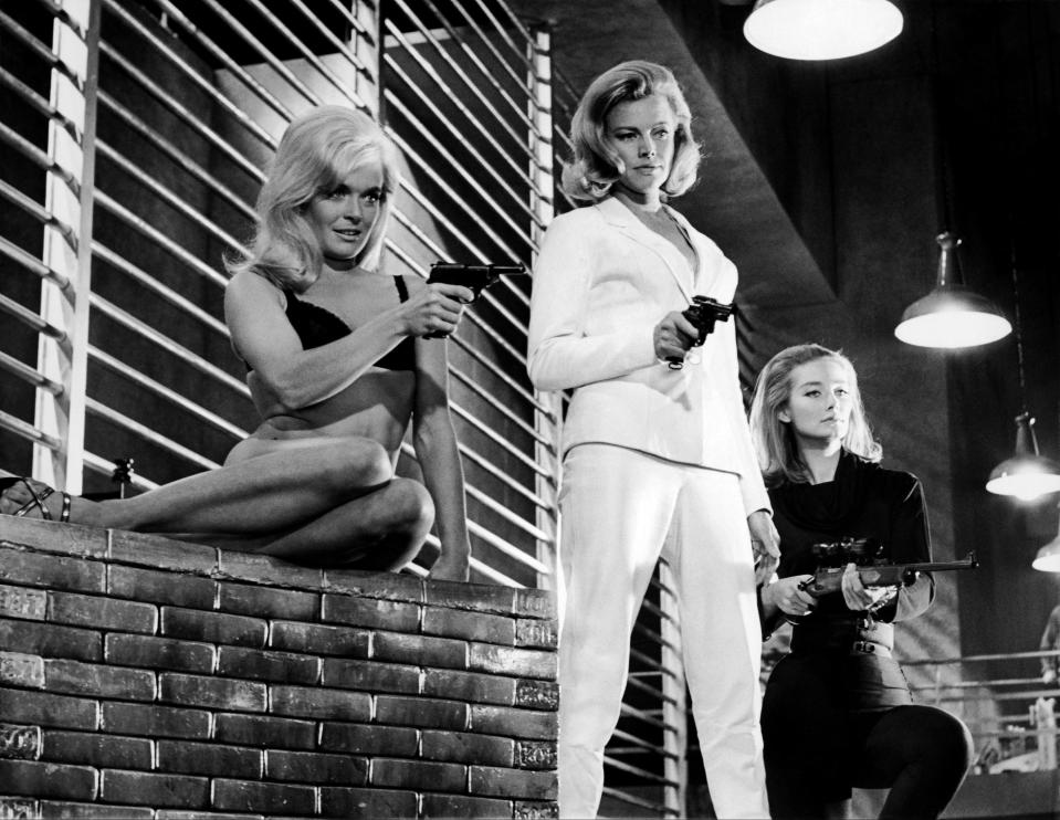 UNSPECIFIED - SEPTEMBER 15:  Shirley Eaton, Honor Blackman And Tania Mallet De Goldfinger - James Bond, 1964  (Photo by Keystone-France/Gamma-Keystone via Getty Images)