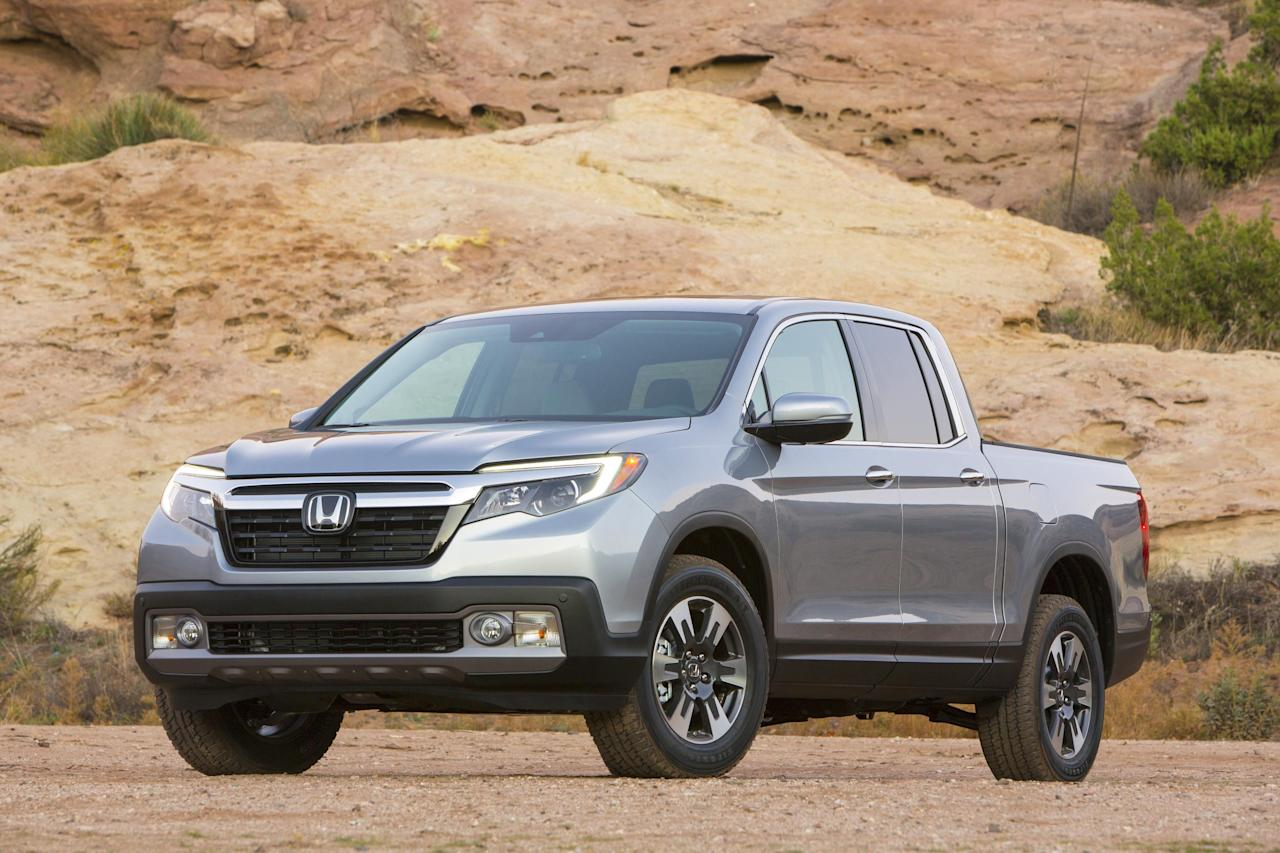 The Honda Ridgeline is the only full-size pickup to achieve a Top Safety Pick + rating.