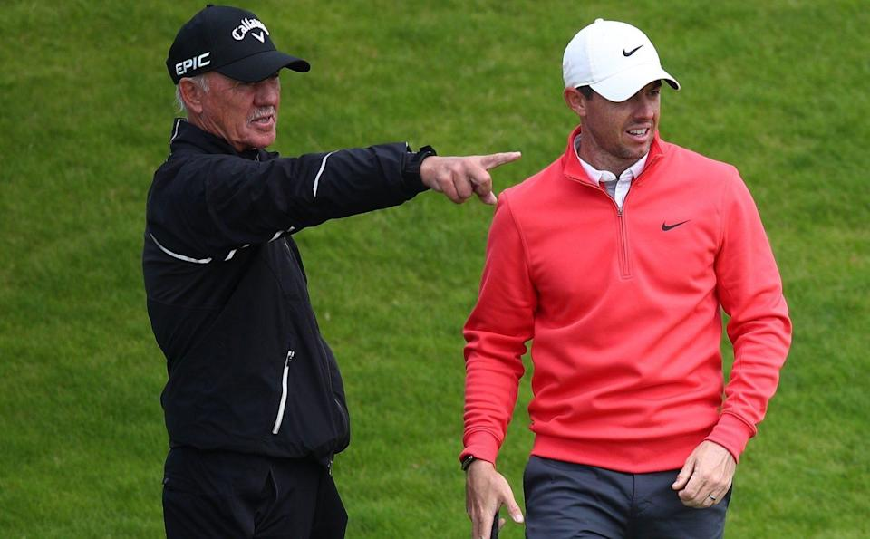 Pete Cowen and Rory McIlroy - GETTY IMAGES