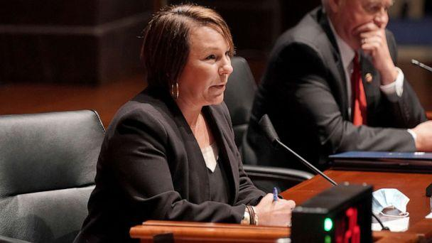 PHOTO: Rep. Martha Roby, R-Ala., asks questions during a House Judiciary Committee hearing on proposed changes to police practices and accountability on Capitol Hill, Wednesday, June 10, 2020, in Washington. (Greg Nash/AP Photo)