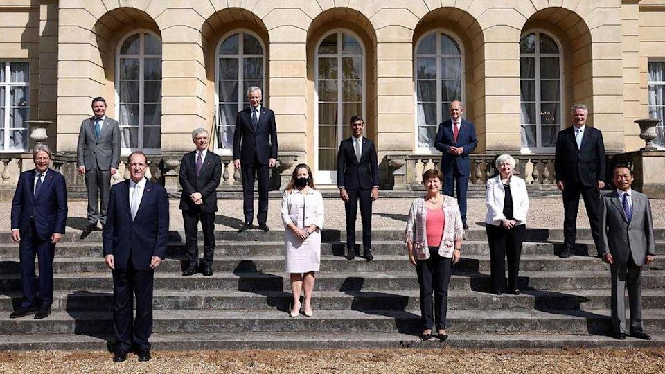 G7 finance ministers meeting at Lancaster House, London on Saturday 5 June