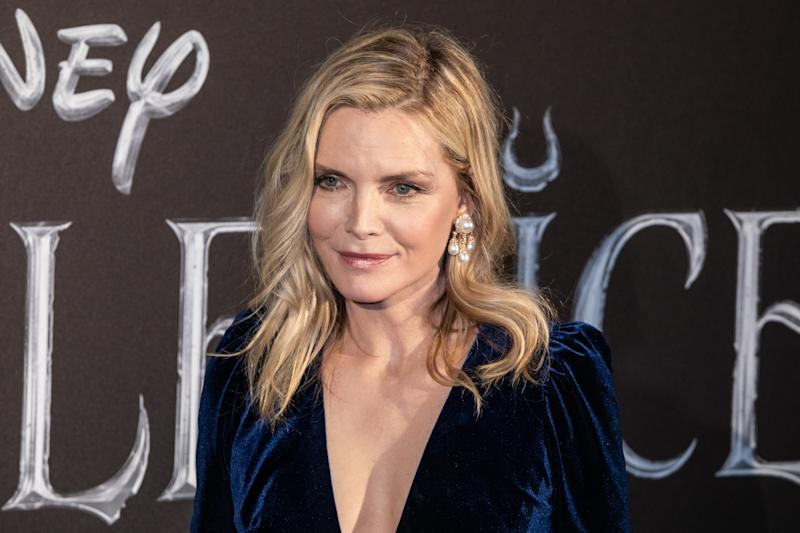 "ROME, ITALY - 2019/10/07: Michelle Pfeiffer attends the European premiere of the movie ""Maleficent Mistress Of Evil"" at Auditorium della Conciliazione in Rome. (Photo by Cosimo Martemucci/SOPA Images/LightRocket via Getty Images)"
