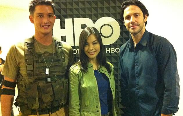 Mike Lewis, Carmen Soo and Les Loveday all star in HBO Asia's first original production Dead Mine (Yahoo! Photo)
