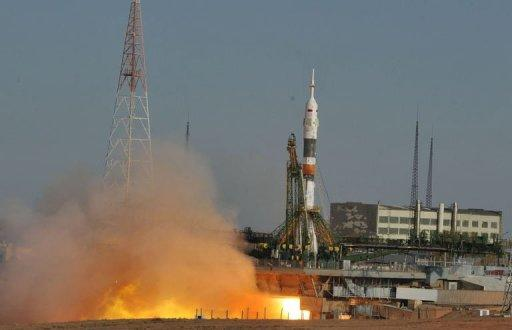 The Soyuz spacecraft is due to dock with the ISS on Thursday at 1235 GMT