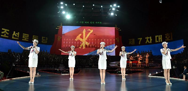 The leader of North Korea's all-female Western-style Moranbong band was supposed to head the advance team to inspect venues (AFP Photo/STR)