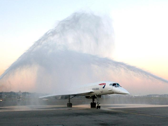 A British Airways Concorde aircraft.