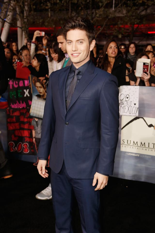 "Jackson Rathbone  arrives at ""The Twilight Saga: Breaking Dawn - Part 2""  Los Angeles premiere  at Nokia Theatre L.A. Live on November 12, 2012 in Los Angeles, California.  (Photo by Jeff Vespa/WireImage)"