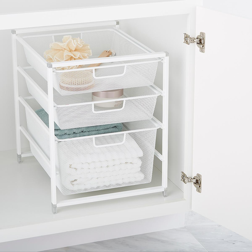 """<h2>Elfa Solutions at The Container Store</h2><br><strong>Sale:</strong> 30% off Elfa closets, pantries, garages & more storage solutions<br><strong>Dates:</strong> Now - January 18<br><strong>Promo Code: </strong>None<br><br><em>Shop<strong> <a href=""""https://www.containerstore.com/s/elfa/best-selling-solutions/12"""" rel=""""nofollow noopener"""" target=""""_blank"""" data-ylk=""""slk:Elfa Solutions at The Container Store"""" class=""""link rapid-noclick-resp"""">Elfa Solutions at The Container Store</a></strong></em><br><br><strong>Elfa</strong> Cabinet-Sized Mesh Drawer Solution, $, available at <a href=""""https://go.skimresources.com/?id=30283X879131&url=https%3A%2F%2Fwww.containerstore.com%2Fs%2Felfa%2Fbest-selling-solutions%2Fdrawer-units%2Felfa-cabinet_sized-mesh-drawer-solution%2F123d%3FproductId%3D10021471"""" rel=""""nofollow noopener"""" target=""""_blank"""" data-ylk=""""slk:Container Store"""" class=""""link rapid-noclick-resp"""">Container Store</a>"""