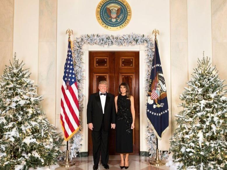 The White House's 2017 Christmas card stars President Trump and First Lady Melania. Photo: White House