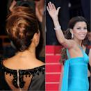 <p>Eva Longoria had a total of three tattoos removed following her divorce from husband Tony Parker in 2010.<br>The actress had the couple's wedding date marked on her wrist, his shirt number tattooed on the back of her neck and his name printed on a more discreet part of her body. The star waited two years to undergo laser treatment. <em>[Photo: Getty]</em> </p>