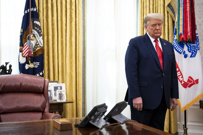 President Donald Trump in the Oval Office of the White House in Washington on Thursday, Dec. 3, 2020. (Doug Mills/The New York Times)