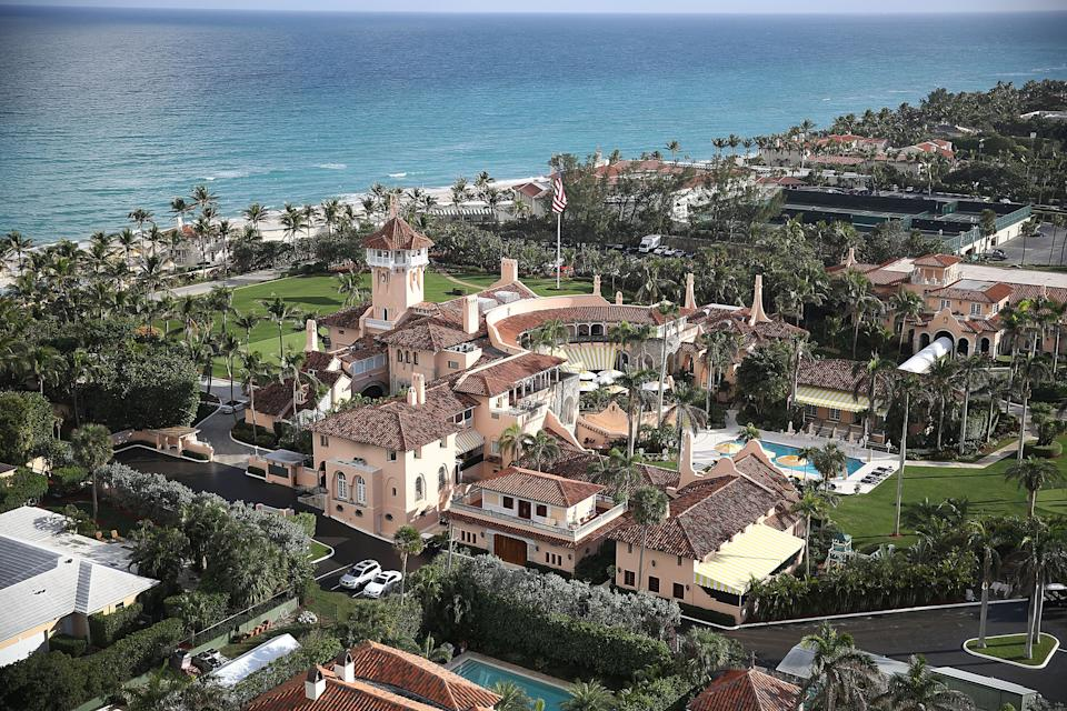 Following the ceremony, the Trumps and their guests drove to Trump's Mar-a-Lago resort for dinner and dancing in the ballroom. Photo: Getty