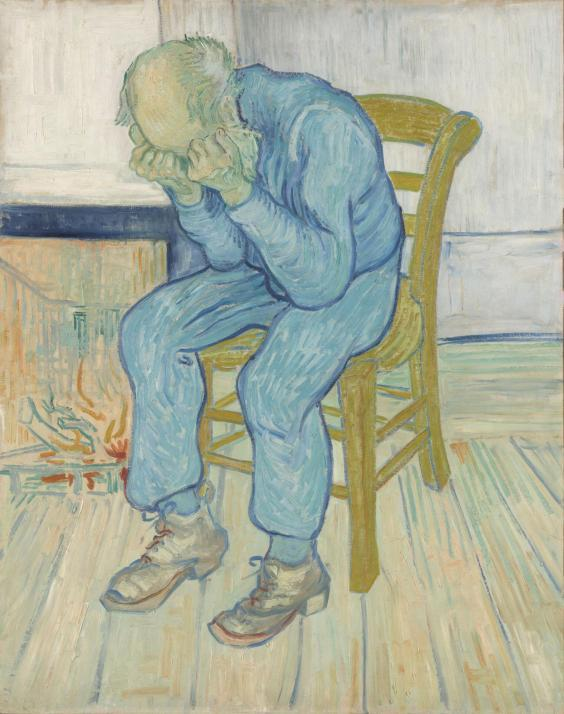 Van Gogh's 'At Eternity's Gate', 1890, oil paint on canvas (Collection Kröller-Müller Museum, Otterlo)