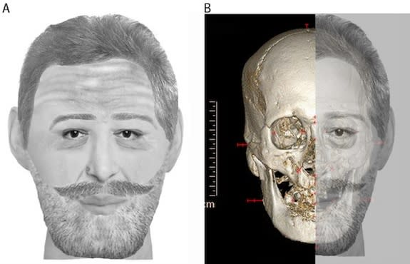 A facial reconstruction of Henry IV based on a mummified head held in a private collection.