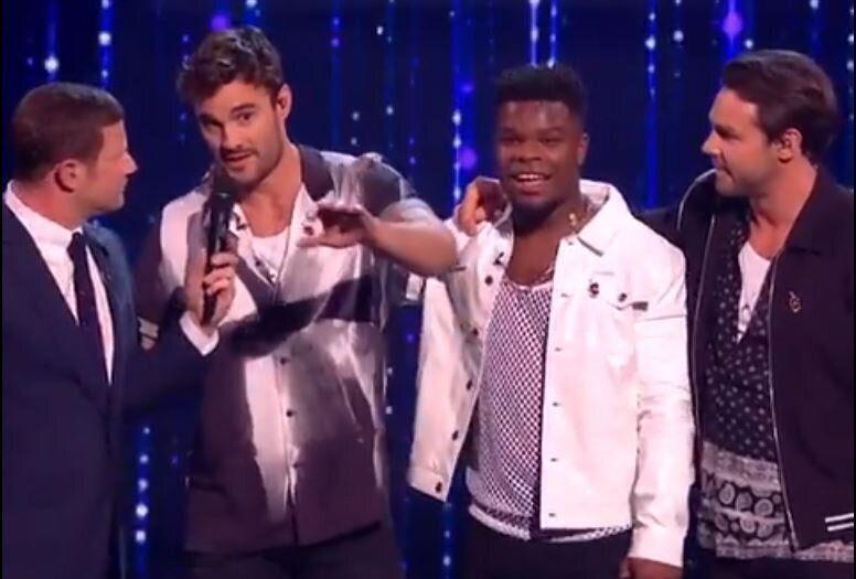 Thom Evans made a savage dig at Louis Walsh on X Factor Celebrity (Photo: ITV)