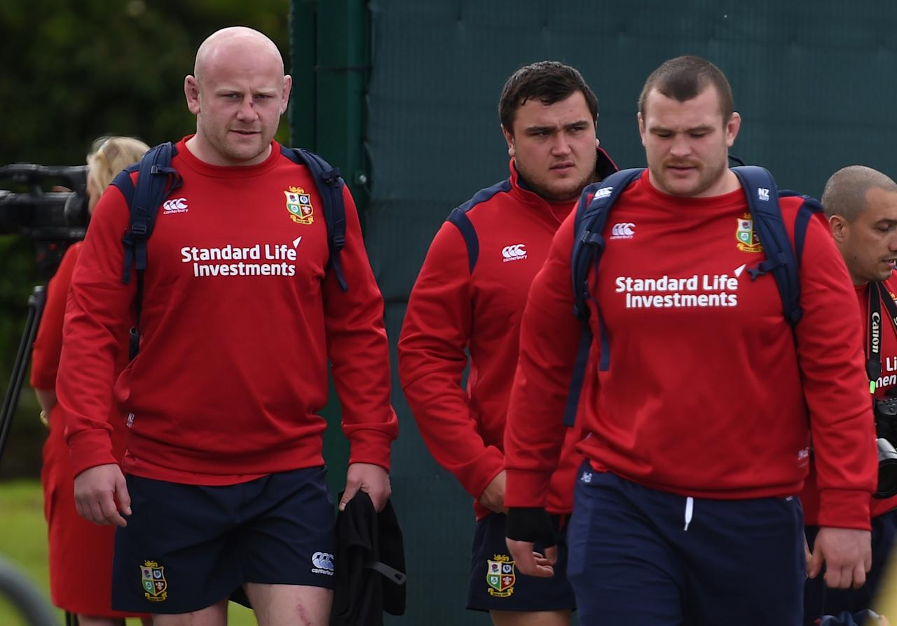 Rugby Union - British & Irish Lions Training & Press Conference - Carton House, Co. Kildare, Ireland - 22/5/17 British & Irish Lions Dan Cole, Jamie George and Jack McGrath arrive for training Reuters  / Clodagh Kilcoyne Livepic EDITORIAL USE ONLY.