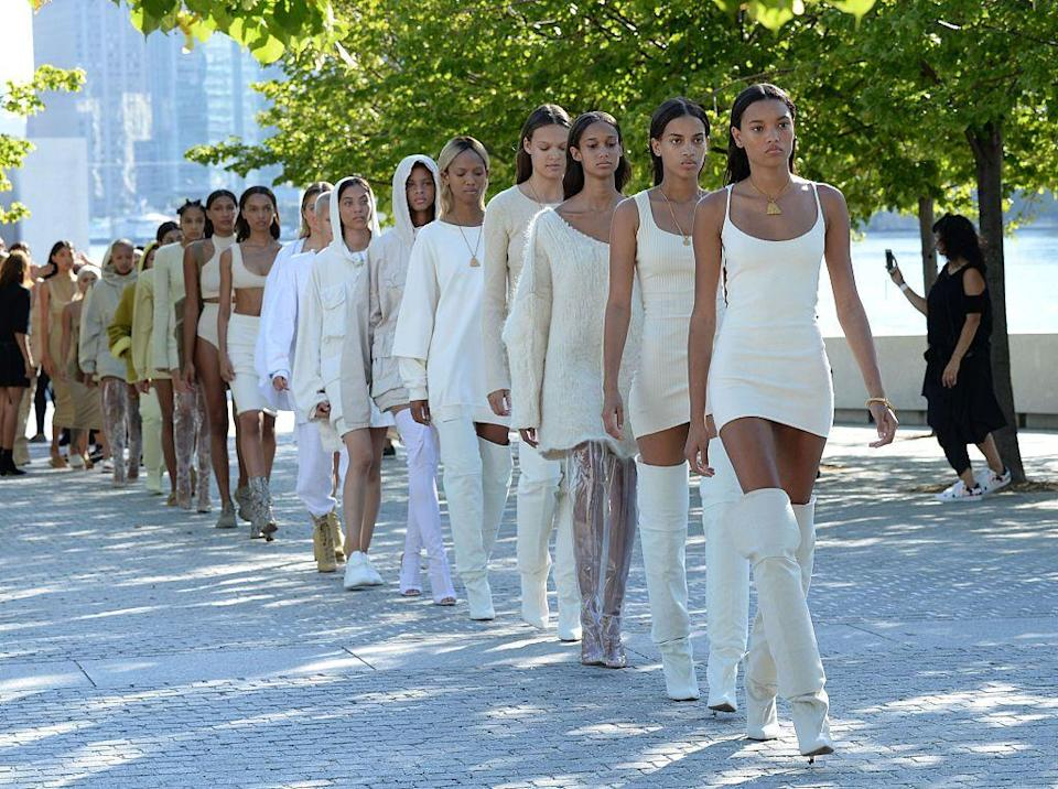 """<p>After years of hinting, Kanye West has finally landed a partnership with high-street brand Gap. The 10 year-old deal, named Yeezy Gap, is said to be a collection of 'modern, elevated basics for men, women and kids at accessible price points', while staying true to Wests's 'design vision', according to the <a href=""""https://www.nytimes.com/2020/06/26/business/kanye-west-yeezy-gap.html"""" rel=""""nofollow noopener"""" target=""""_blank"""" data-ylk=""""slk:New York Times"""" class=""""link rapid-noclick-resp"""">New York Times</a>. </p><p>West worked at a Gap store in his adolescence, and even declared in a <a href=""""https://www.thecut.com/2015/02/kanye-sees-himself-as-the-robin-hood-of-fashion.html"""" rel=""""nofollow noopener"""" target=""""_blank"""" data-ylk=""""slk:2015 interview"""" class=""""link rapid-noclick-resp"""">2015 interview</a> that he wished to 'be the Steve Jobs of the Gap'. </p><p>Gap has reported disappointing sales over recent years, but if Yeezy's incredibly lucrative collaborations with Adidas is anything to go by, that could soon change. </p><p>Yeezy Gap is set to drop in early 2021.</p>"""