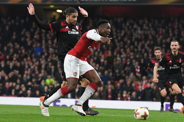 Arsenal's Danny Welbeck avoids retrospective action for alleged dive against AC Milan