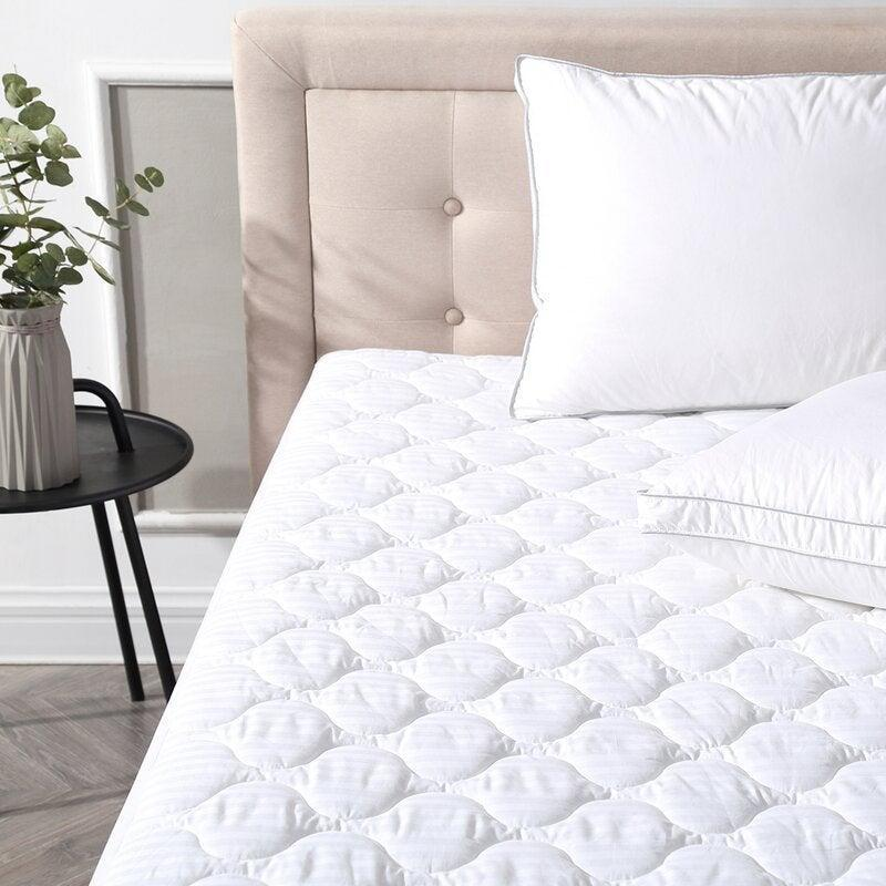 """<h2>49% Off Alwyn Home Deluxe Defend-A-Bed Mattress Pad</h2><br><strong>4.7 out of 5 stars and 1,437 reviews </strong><br>""""This is absolutely a waterproof mattress pad you can trust! There are no annoying crinkling of plastic sounds when you turn over at night and no excessive sweating<br>like with some waterproof mattress pads. This was a great purchase!"""" – <em>Wayfair Reviewer</em><br><br><em>Shop <strong><a href=""""https://www.wayfair.com/bed-bath/pdp/alwyn-home-deluxe-defend-a-bed-polyester-mattress-pad-anew2771.html"""" rel=""""nofollow noopener"""" target=""""_blank"""" data-ylk=""""slk:Wayfair"""" class=""""link rapid-noclick-resp"""">Wayfair</a></strong></em><br><br><strong>Alwyn Home</strong> Deluxe Defend-A-Bed Polyester Mattress Pad, $, available at <a href=""""https://go.skimresources.com/?id=30283X879131&url=https%3A%2F%2Fwww.wayfair.com%2Fbed-bath%2Fpdp%2Falwyn-home-deluxe-defend-a-bed-polyester-mattress-pad-anew2771.html"""" rel=""""nofollow noopener"""" target=""""_blank"""" data-ylk=""""slk:Wayfair"""" class=""""link rapid-noclick-resp"""">Wayfair</a>"""
