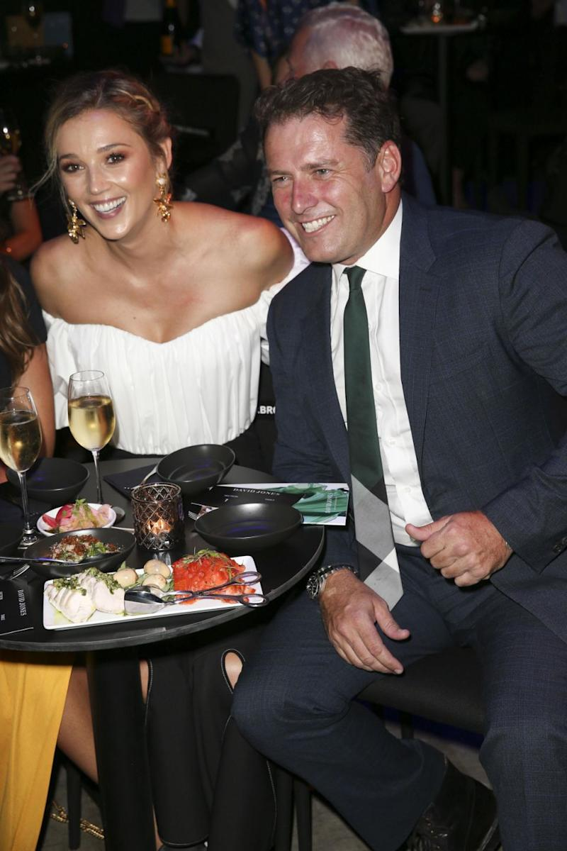 Karl Stefanovic and Jasmine Yarbrough at the 2018 Autumn/Winter fashion launch in Sydney on the 7th February. Source: Media-Mode