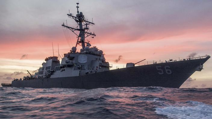 The USS John S. McCain conducts a patrol in the South China Sea in a January 2017 file photo. / Credit: Navy Petty Officer 3rd Class James Vazquez