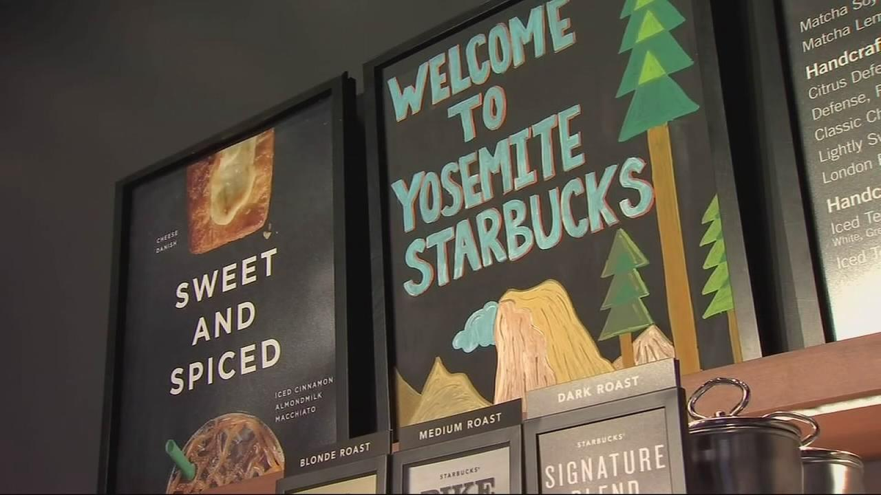 Yosemite visitors have mixed reactions to a Starbucks opening inside the park. It's part of a $7 million renovation to the park, two decades in the making.